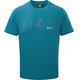 Mountain Equipment Triple Peak t-shirt Heren blauw